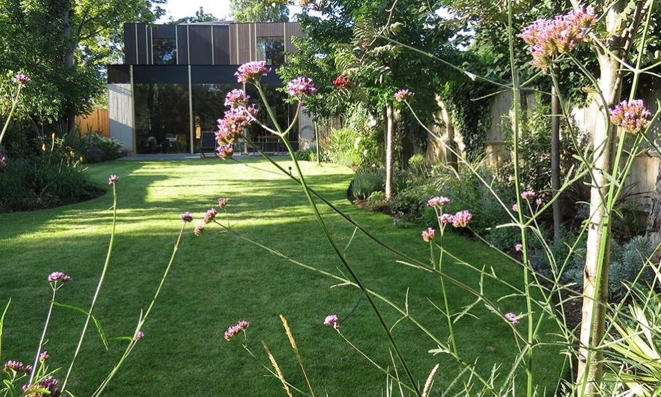 Garden landscaped by Gardenia Gardens of Dulwich for Iconic Architect's Home